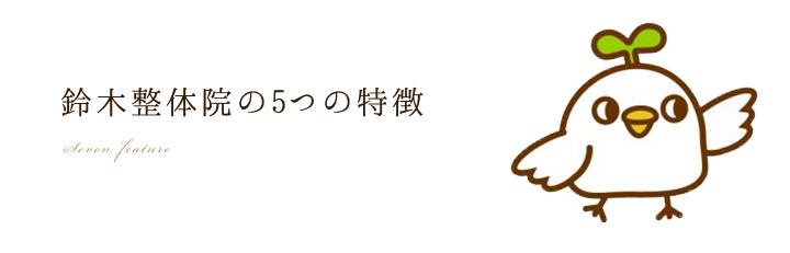 美容整体「仙台の鈴木整体院」の5つの特長